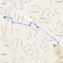 Driving directions from the station