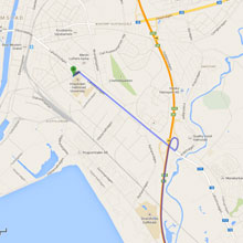 Driving directions from Malmö