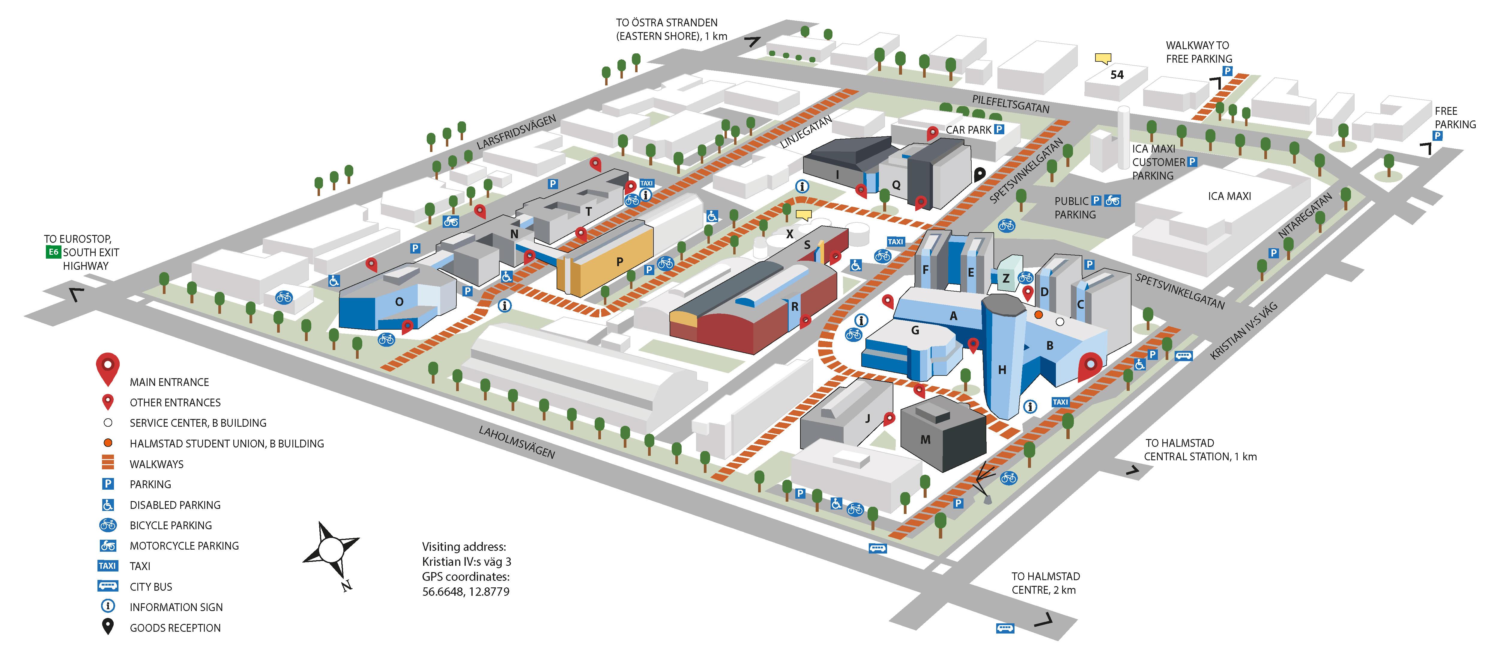 Campus Map Hogskolan I Halmstad