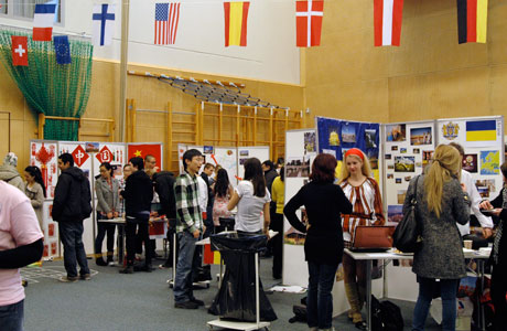The University's international students presenting their home countries.