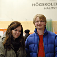 Johanna Westberg and Tim Hansson considering studying next autumn at Halmstad University.