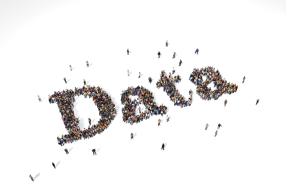 An image showing people forming the word Data.